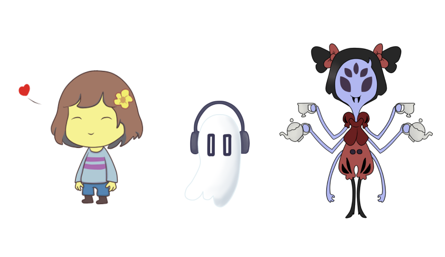 Undertale characters png. My favorite in by
