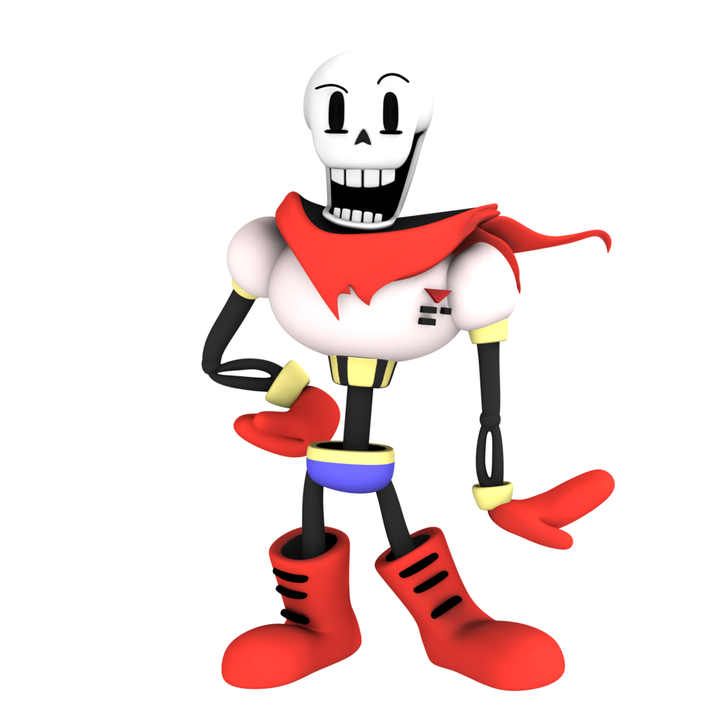 Undertale characters png. Image papyrus from render