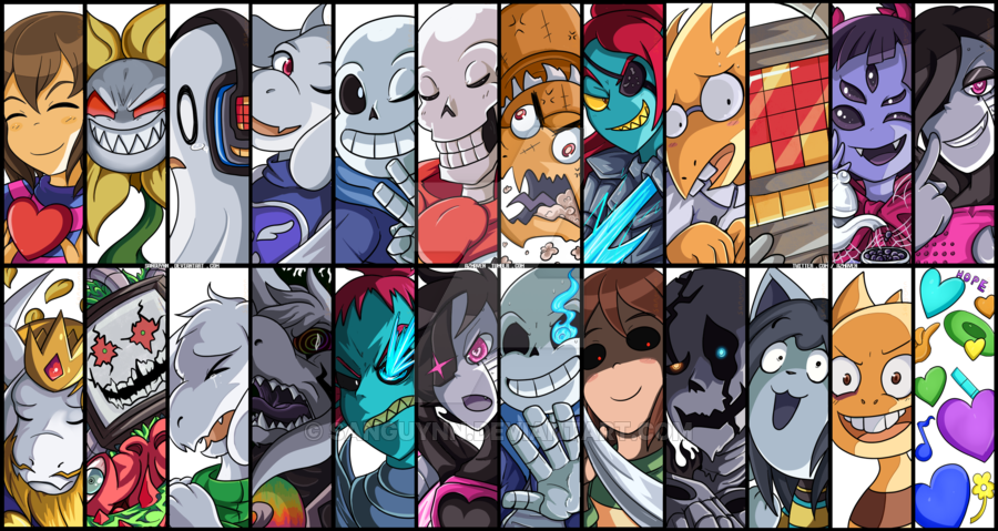 Undertale fanart of all characters png. Battle cuts remaster by