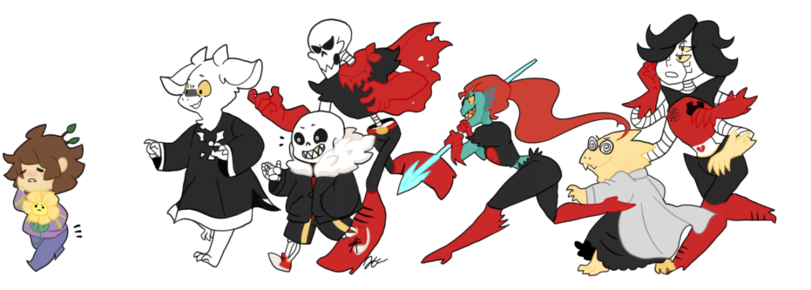 Undertale fanart of all characters png. Games underfell au frisk