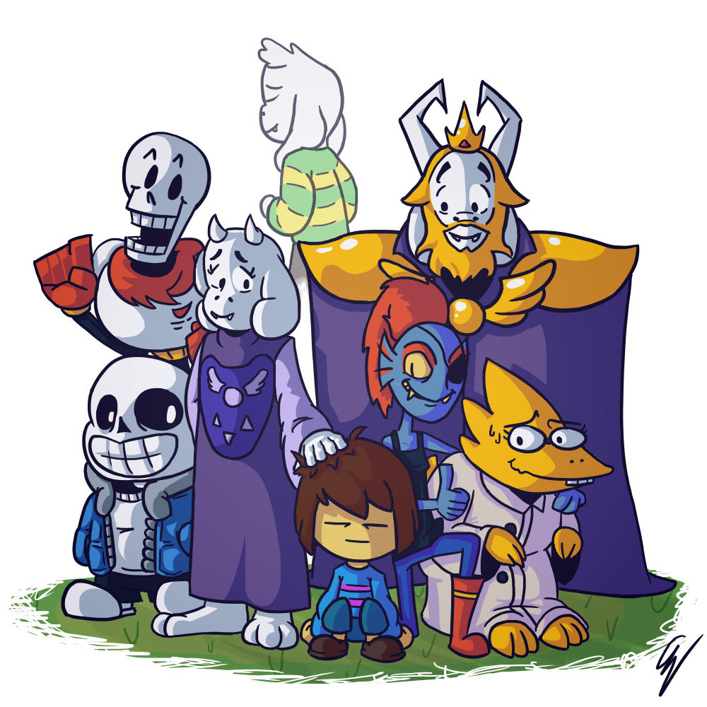 Undertale fanart of all characters png. Pacifist ending know your