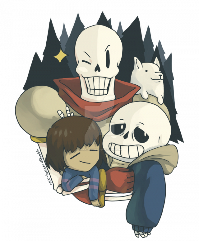 Undertale fanart of all characters png. Creepy and cute sans