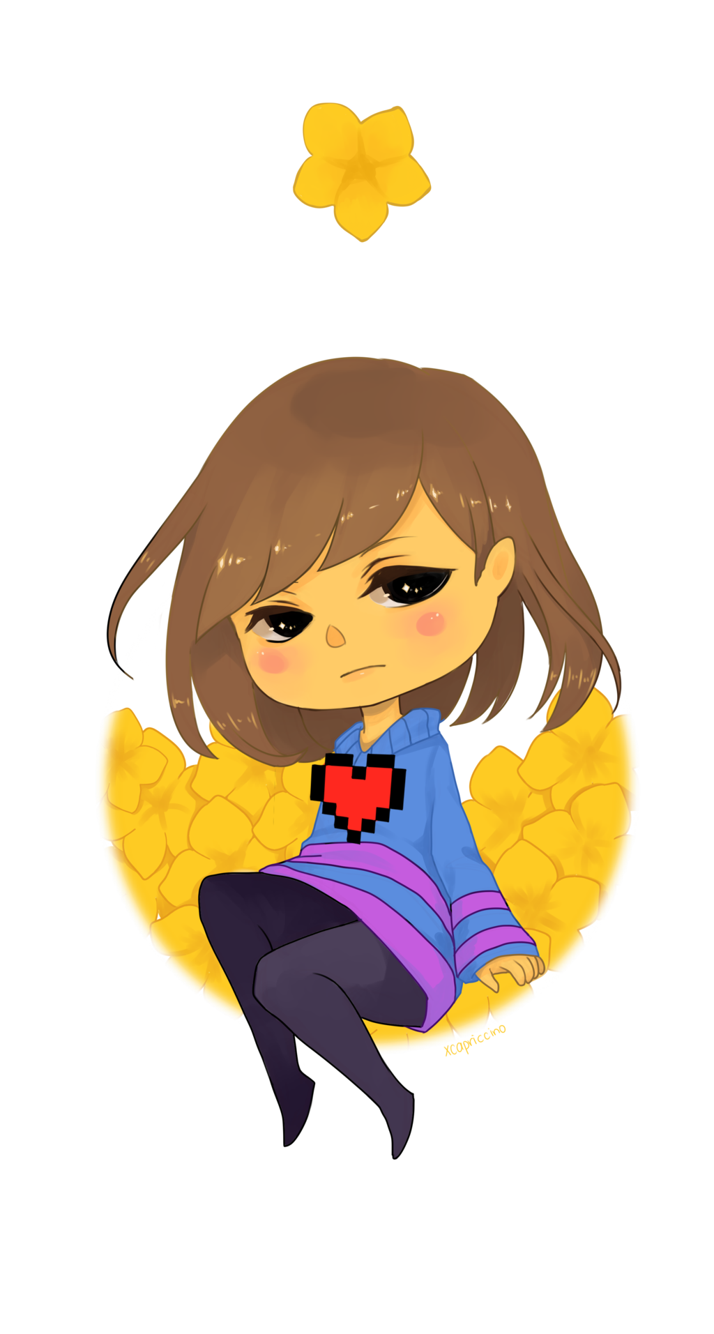 Undertale frisk png. By xcapriccino on deviantart