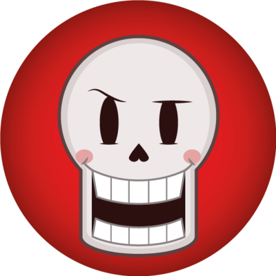 Undertale icon png. Papyrus button by silsado