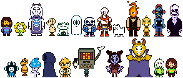 Undertale main character png. Cast overworld sprites special