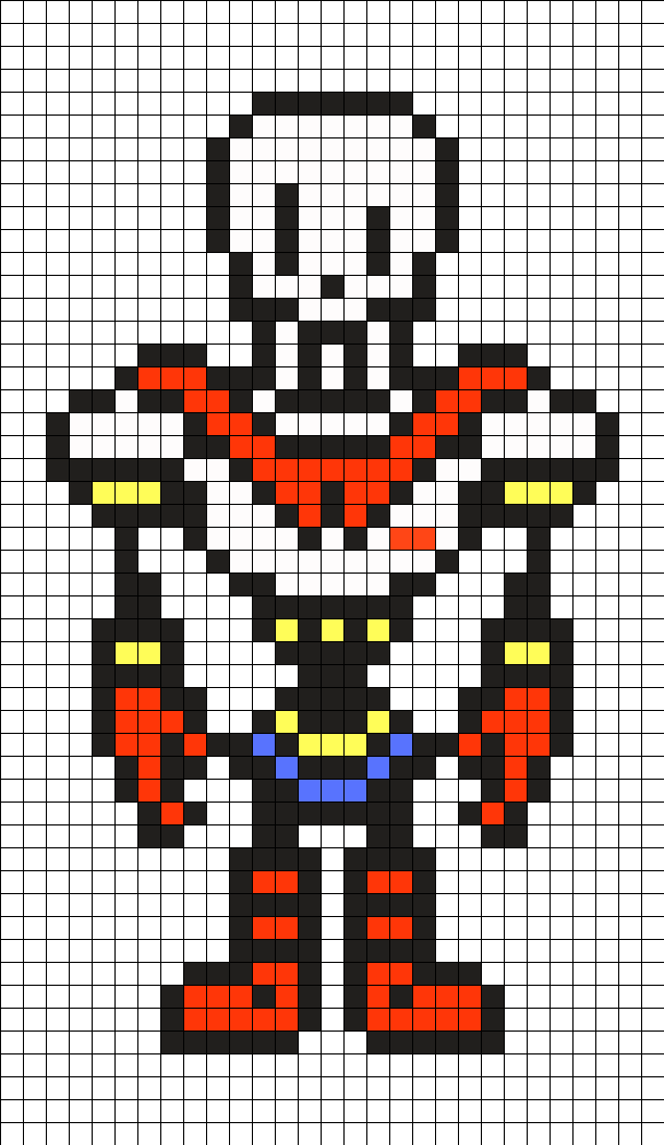 Undertale papyrus png. Perler bead pattern patterns