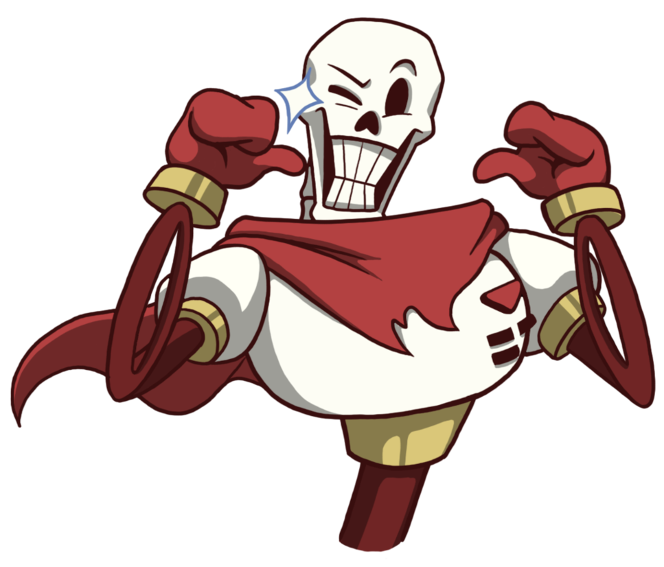 Undertale papyrus png. By sherm ex on
