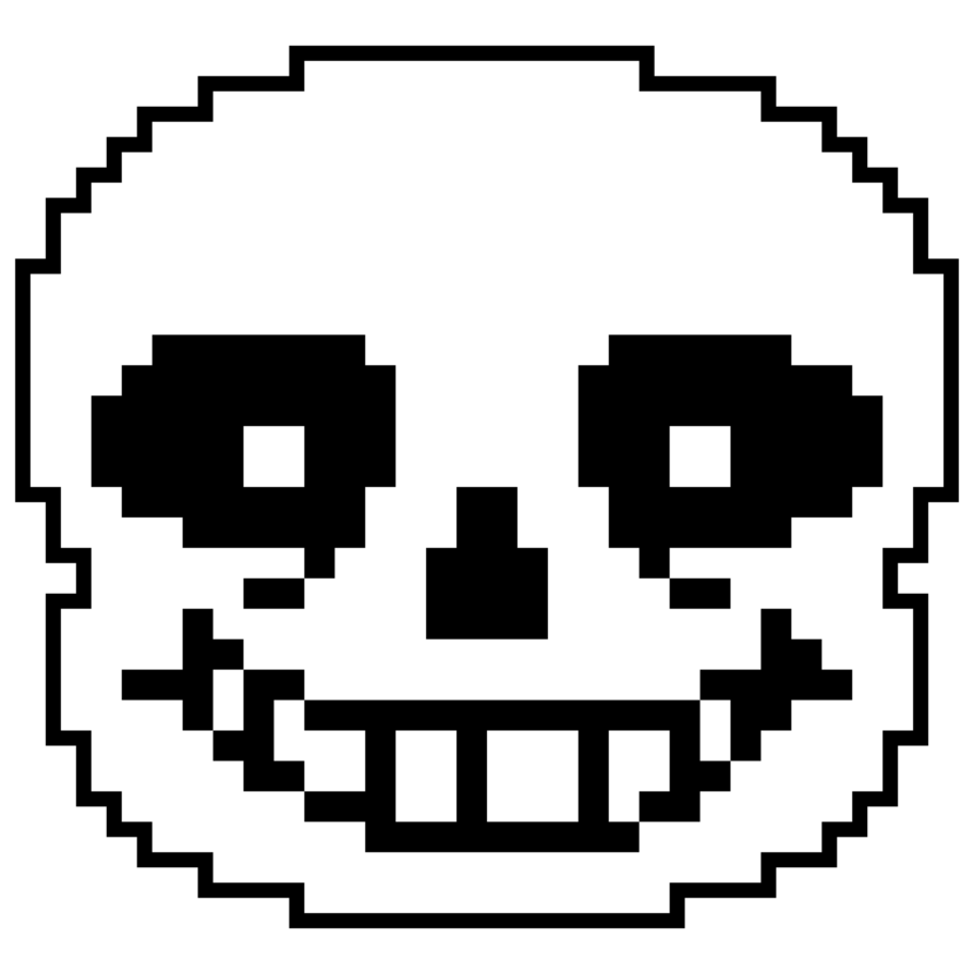 Undertale sans face png. S high resolution render