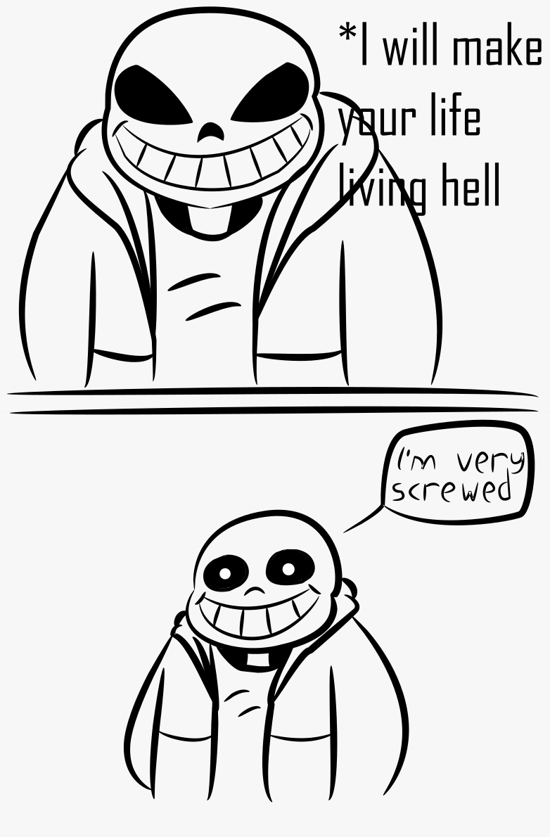 Undertale sans face png. What says vs thinks