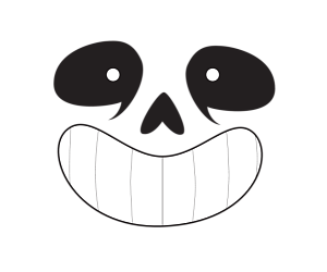 Undertale sans face png. By lurelight inktale