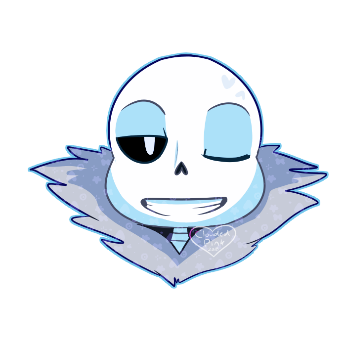 Undertale sans face png. Sticker by cloudedpink on