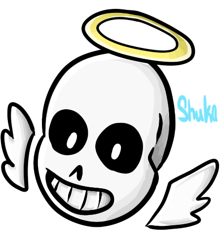 Undertale sans face png. Angel head pagedoll by