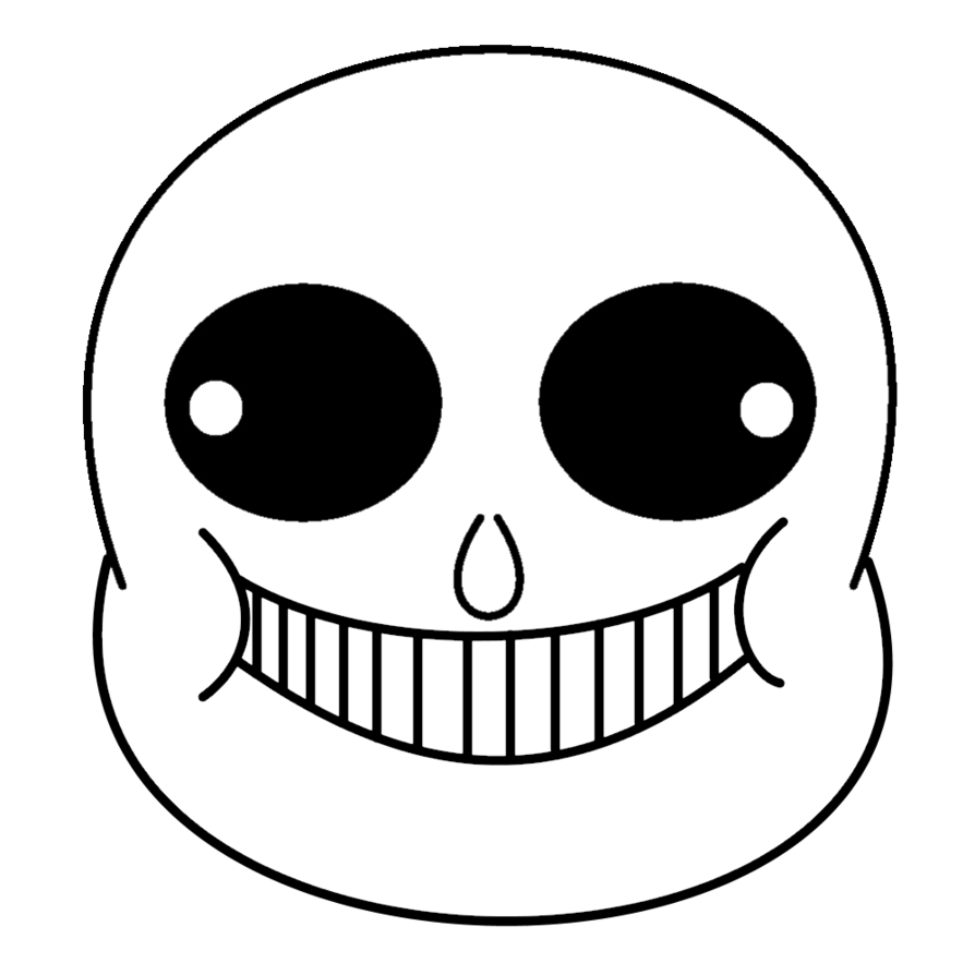 Undertale sans face png. Printable sticker by m