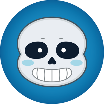 Undertale sans head png. Button by silsado on