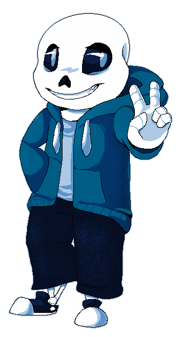 Undertale sans png. By spunkyracoon on deviantart