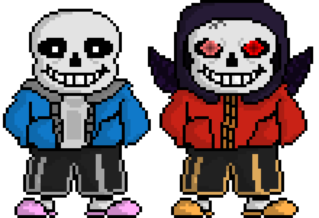 Undertale sans sprite png. Redtale shaded sprites pixel
