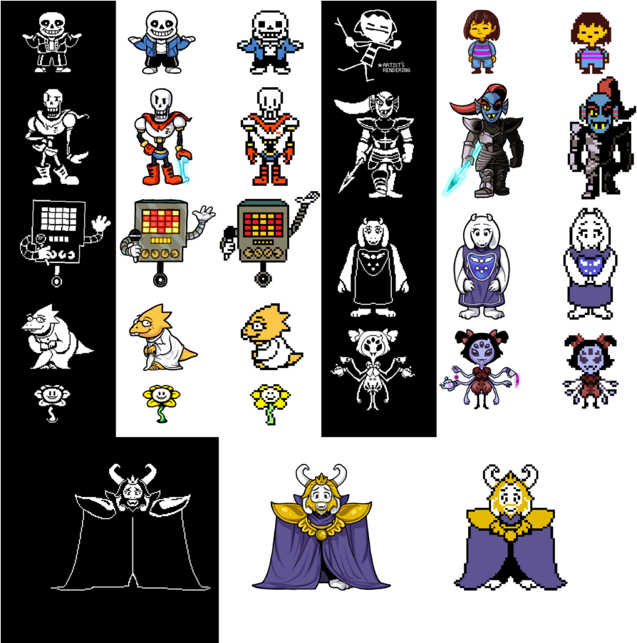 Undertale sprite png. Download hd in game