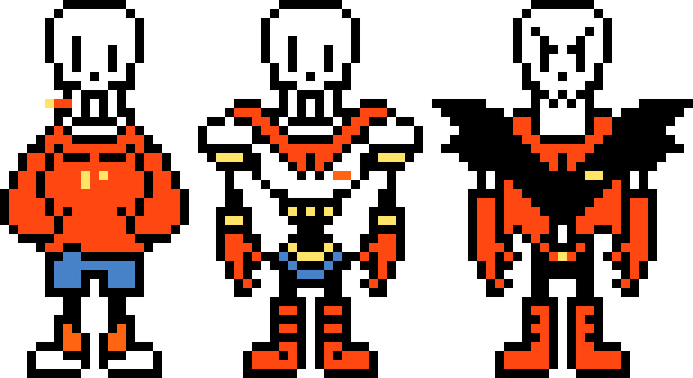 Undertale sprite png. The various of papyrus