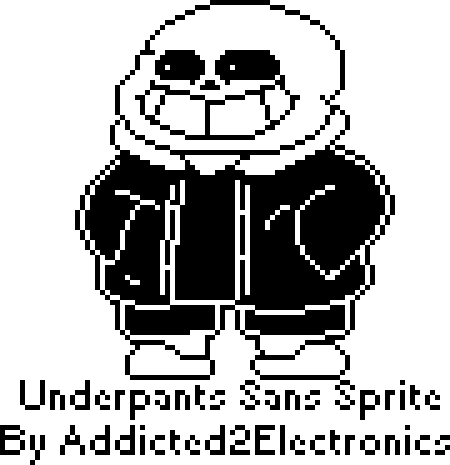 Sans sprite png. Underpants by addicted electronics