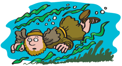 Image jonah under water. Underwater clipart png black and white library