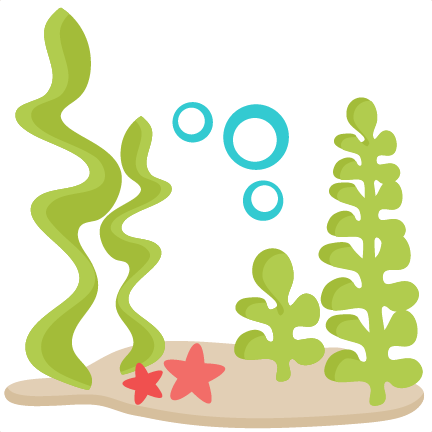 Underwater clipart. Scene svg scrapbook cut