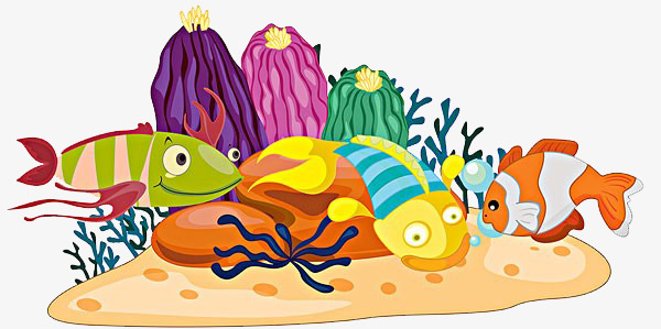 The world fish coral. Underwater clipart stone clip freeuse stock