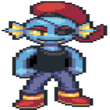 Undyne sprite png. Made by foop mcfawn