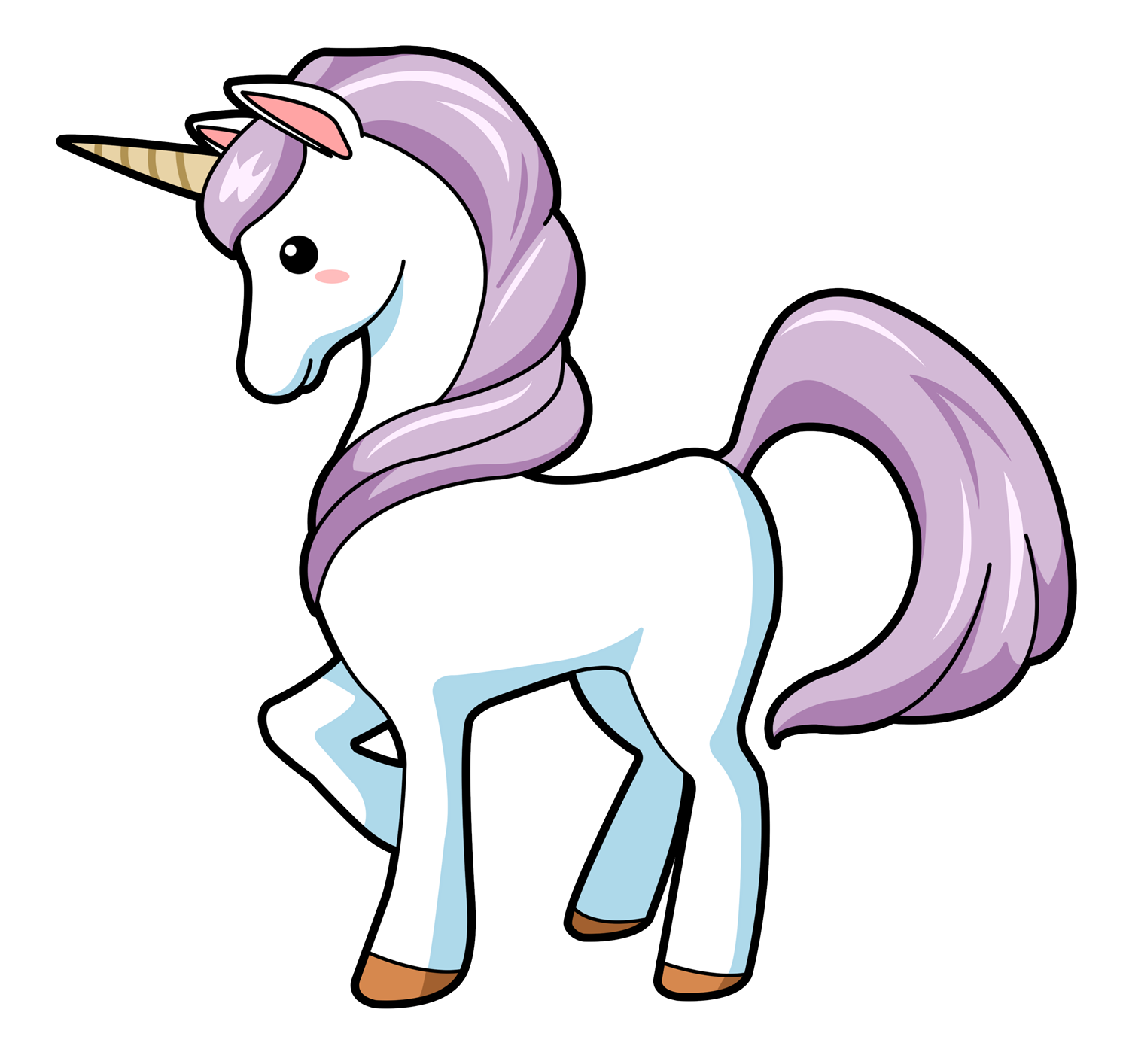 nicorn clipart kawaii