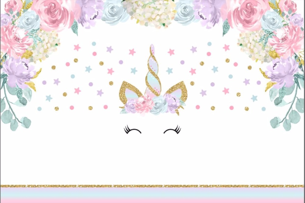Unicorn clipart floral. X ft pink