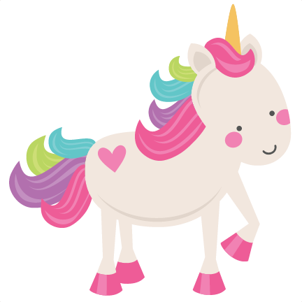 Cute unicorn png. Svg scrapbook cut file