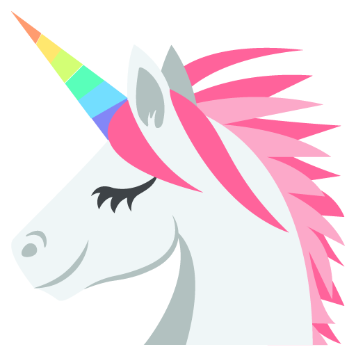 Unicorn face png. Emoji for facebook email