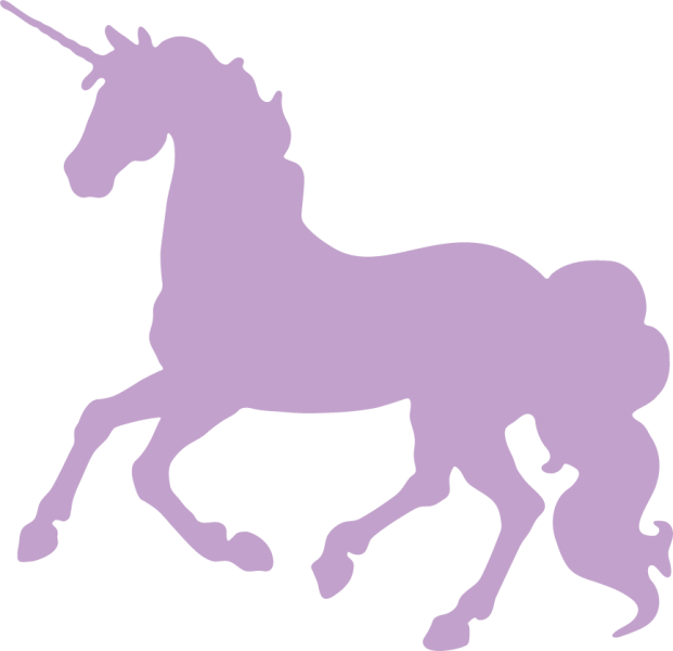 unicorns transparent purple