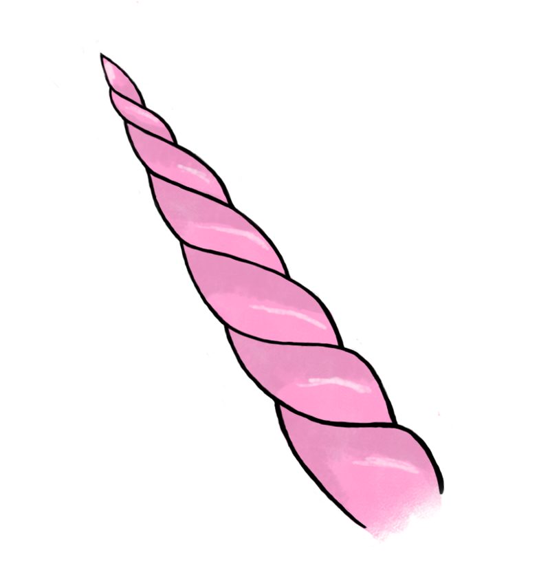 Unicorn horn clipart real png. Pink image by grandpa