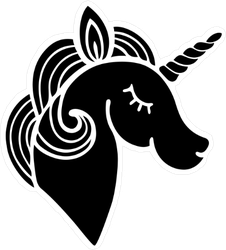 Unicorn lashes png. With long sticker