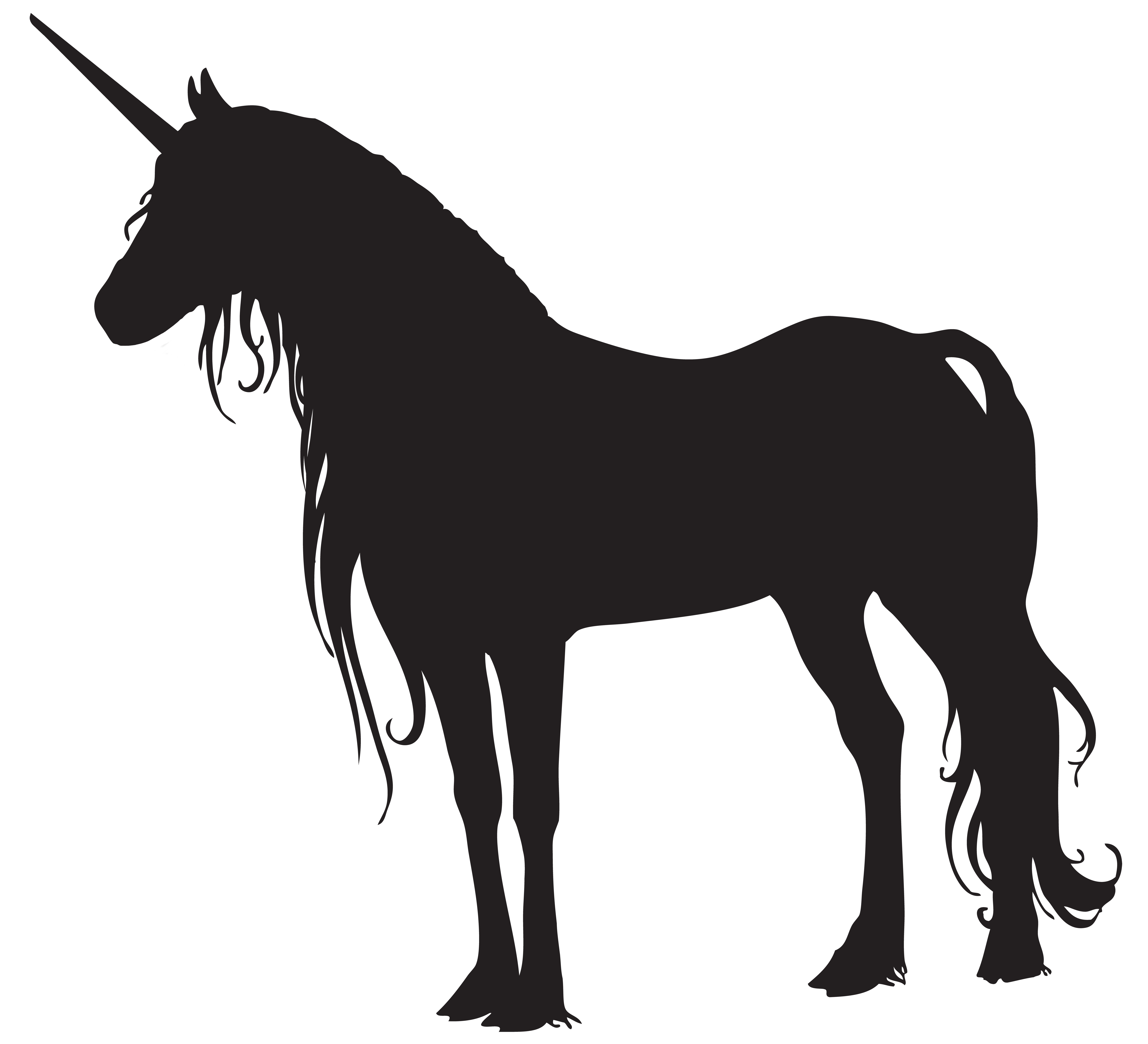 Unicorn silhouette png. Clip art gallery yopriceville