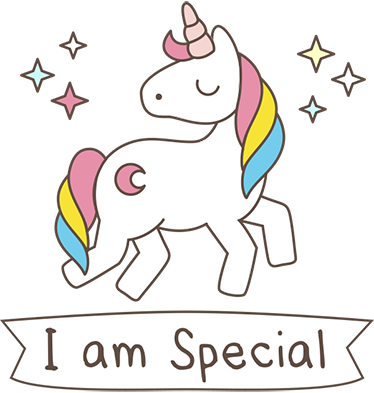Unicorn sticker png. I am special tenstickers