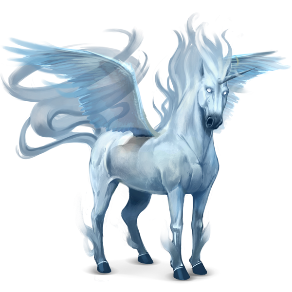 Unicorns transparent winged. Image ab f a