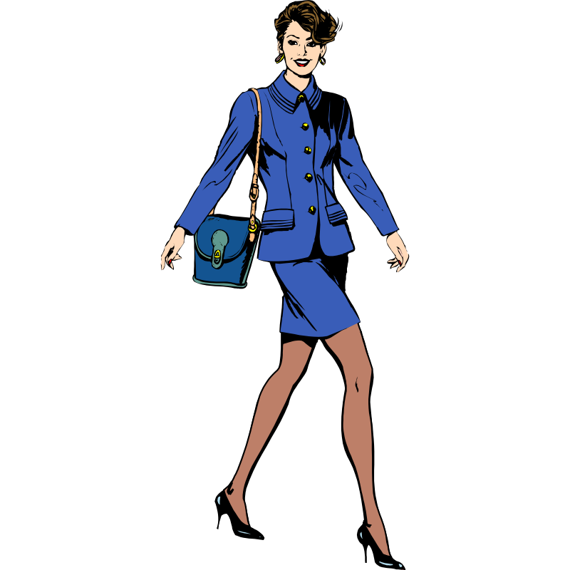 Businesswoman clipart male female. Free business walking cliparts