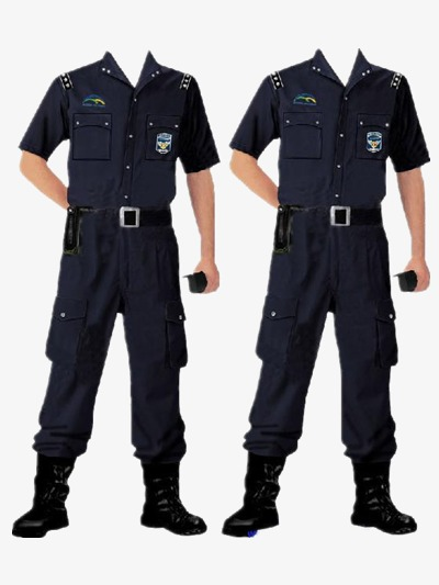 Uniform clipart security guard uniform. Police policemen navy blue