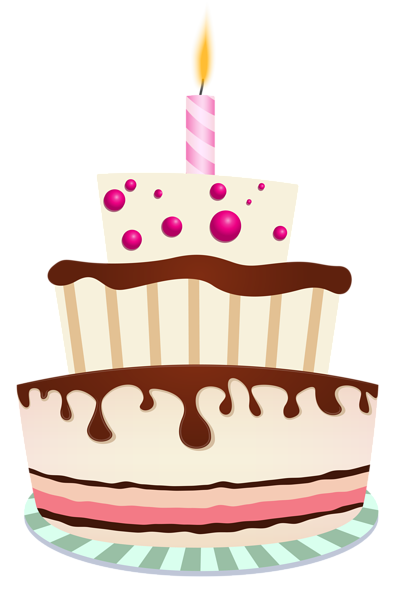 Unique birthday candles png. Cake with one candle