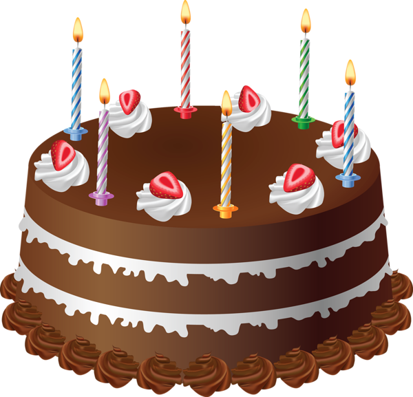 Unique Birthday Candles Png Chocolate Cake With Art Picture Freeuse Library