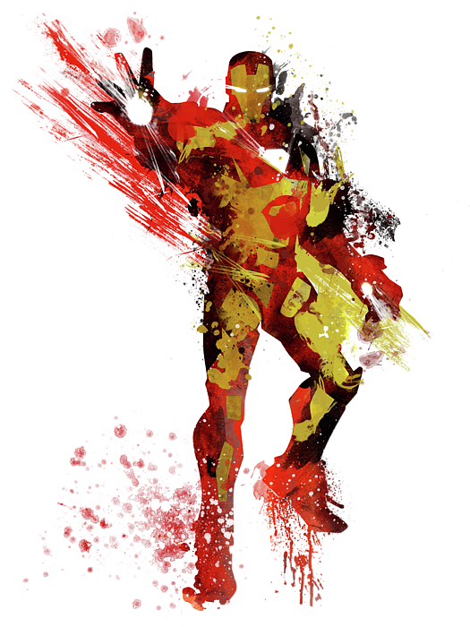 Drawing medium unique. Iron man abstract shower