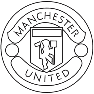 United drawing. Collection of manchester