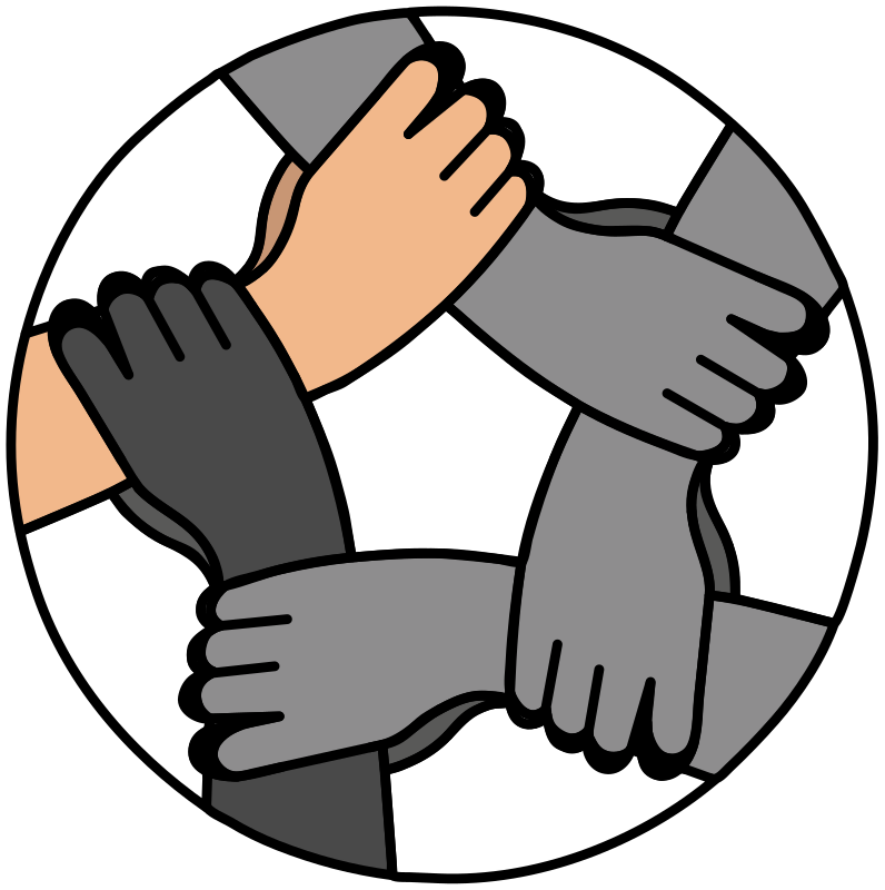 United drawing hand. Clipart hands medium image
