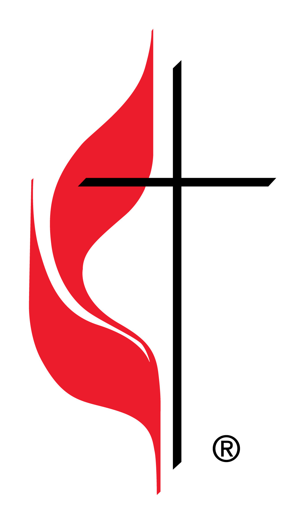 United methodist church logo png. Cross and flame the