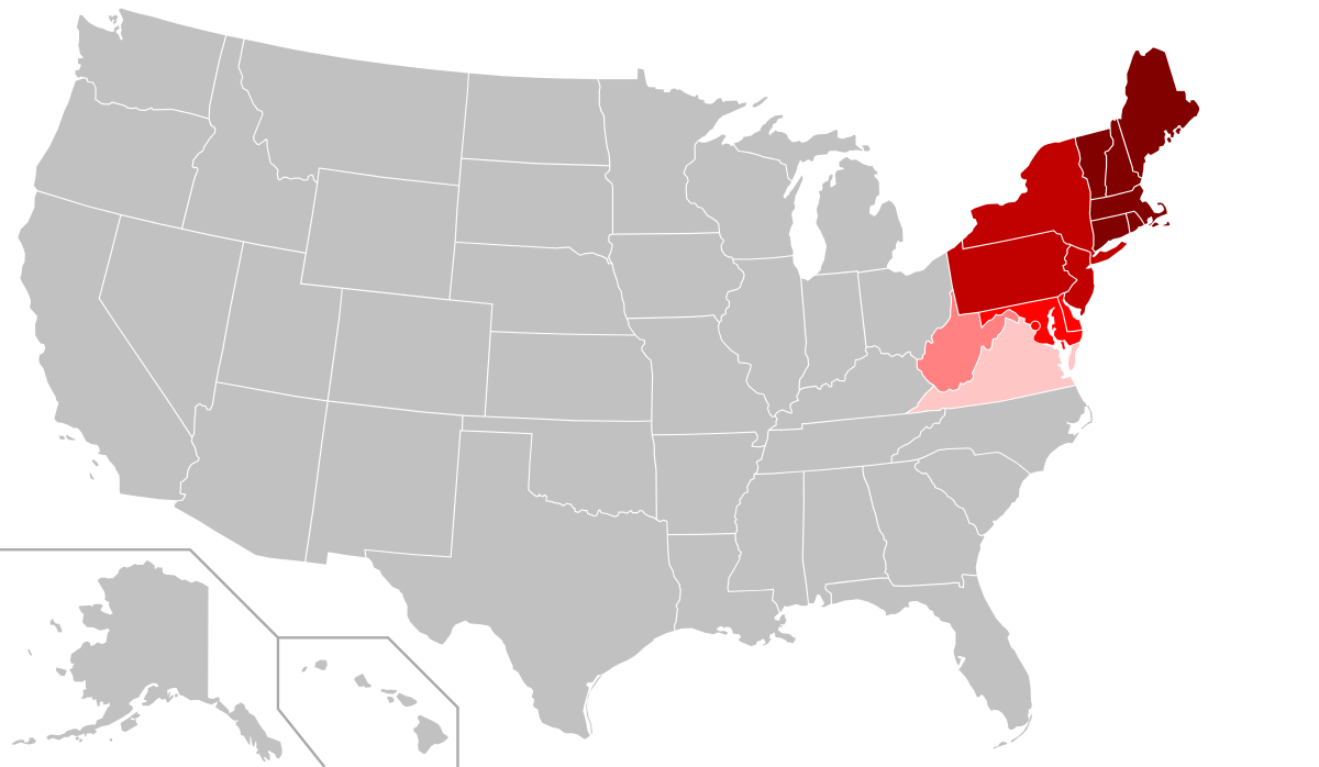 United States. Northeastern wikipedia