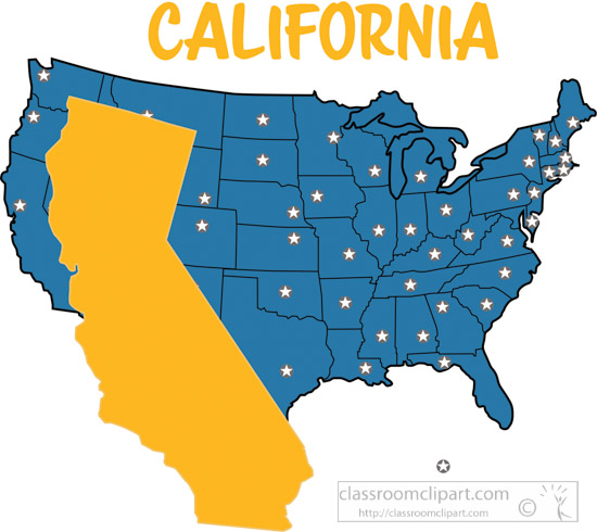United states clipart. Map color clip art
