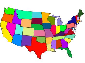 United states clipart blackline. By lafountaine of knowledge