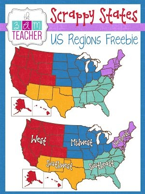 United states clipart history us class. Regions of usa