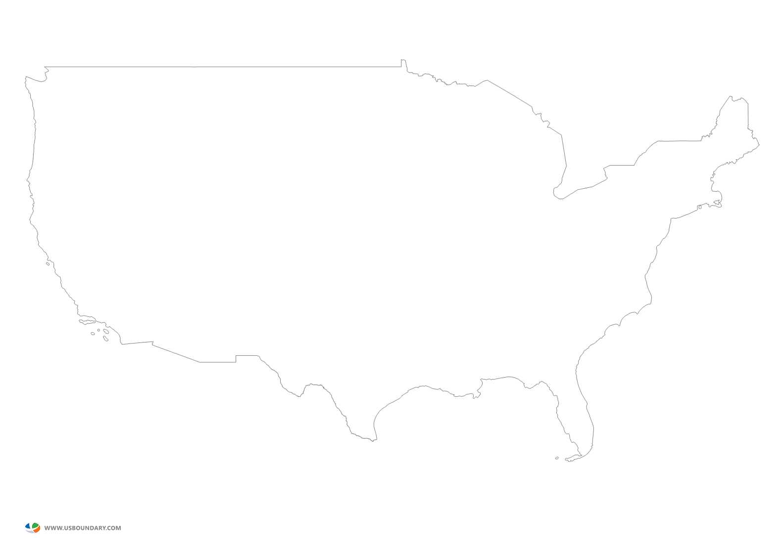 United states map outline png. Maps download mainland ouline